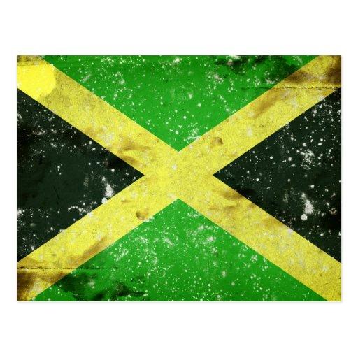 Diseño jamaicano del estilo del Grunge Tarjeta Postal