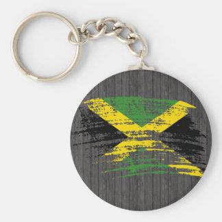 Diseño jamaicano fresco de la bandera llavero redondo tipo pin