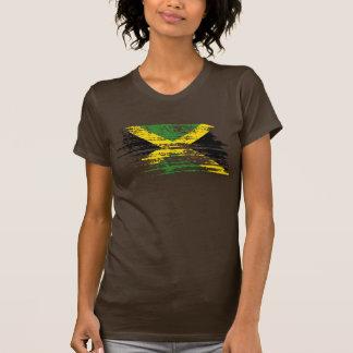 Diseño jamaicano fresco de la bandera camiseta