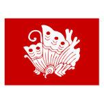 Diseño japonés de Kamon de la mariposa Tarjetas De Visita Grandes
