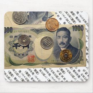 Diseño japonés Mousepad del dinero Tapetes De Raton