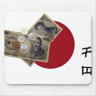 Diseño japonés Mousepad del dinero Tapete De Ratones