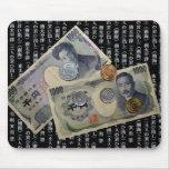 Diseño japonés Mousepad del dinero Tapetes De Ratón
