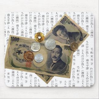 Diseño japonés Mousepad del dinero Tapete De Ratón