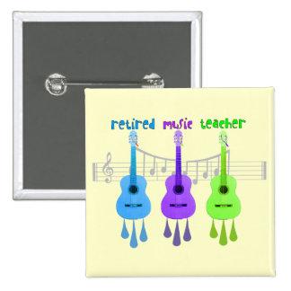 Diseño jubilado de las guitarras del profesor de m pin cuadrada 5 cm