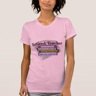 """Diseño jubilado de los libros del profesor """"pila camiseta"""