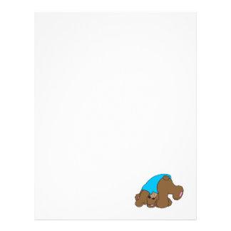 diseño juguetón lindo del oso de peluche que cae membretes personalizados