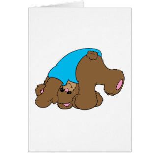 diseño juguetón lindo del oso de peluche que cae tarjetón