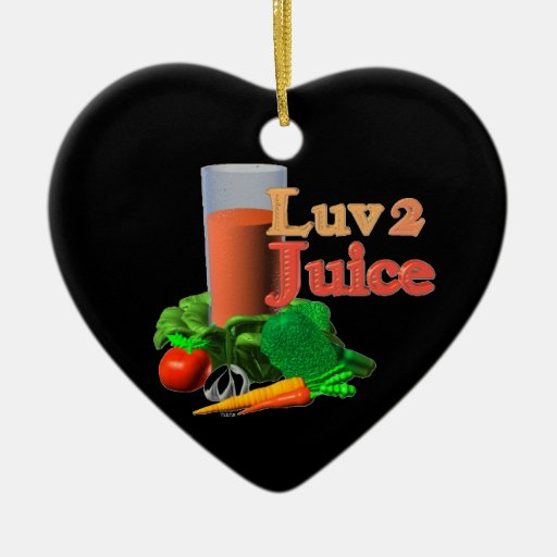 Diseño juicing del jugo del amor 2 en 100+ adorno de navidad