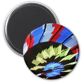 Diseño justo colorido del paseo, colores de neón e imán redondo 5 cm