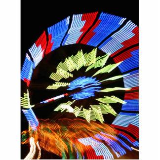 Diseño justo colorido del paseo, colores de neón e llavero fotográfico