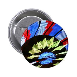 Diseño justo colorido del paseo, colores de neón e pin redondo de 2 pulgadas