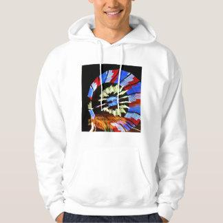 Diseño justo colorido del paseo, colores de neón sudadera con capucha