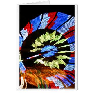 Diseño justo colorido del paseo, colores de neón tarjeta pequeña