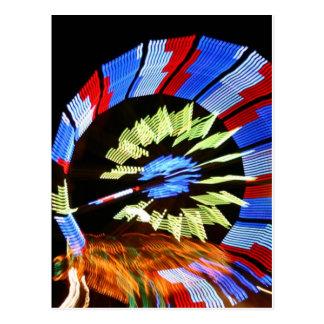 Diseño justo colorido del paseo, colores de neón tarjetas postales