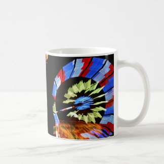 Diseño justo colorido del paseo, colores de neón taza