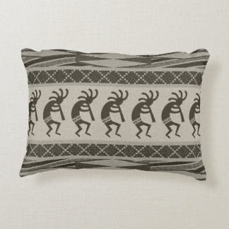 Diseño Kokopelli de baile tribal del sudoeste Cojín Decorativo