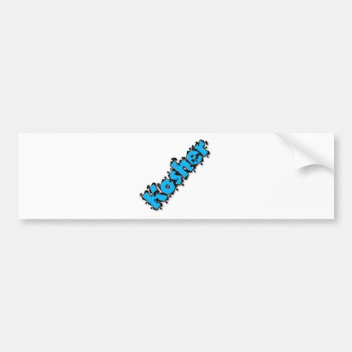 Diseño kosher del texto etiqueta de parachoque