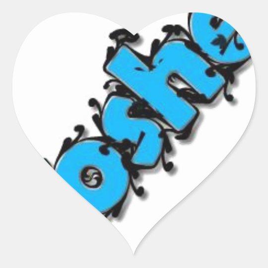 Diseño kosher del texto pegatina en forma de corazón