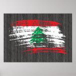 Diseño libanés fresco de la bandera impresiones
