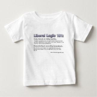 Diseño liberal #2 de la lógica 101 playera para bebé