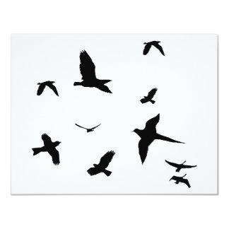 """¡Diseño libre de los pájaros! Invitación 4.25"""" X 5.5"""""""