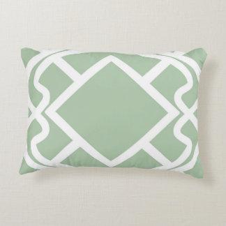 Diseño ligero del enrejado de la verde salvia del cojín