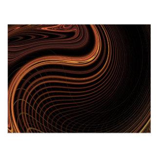 Diseño ligero marrón fresco del extracto del postal