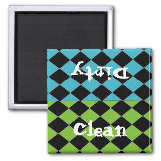 Diseño limpio o sucio del diamante imán cuadrado