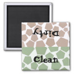 Diseño limpio o sucio del hexágono iman para frigorífico