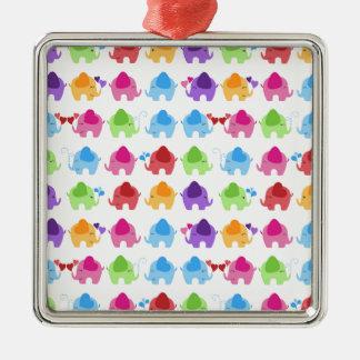 diseño lindo brillante del elefante del bebé ornamentos de reyes