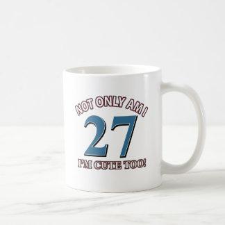 diseño lindo de 27 años taza clásica