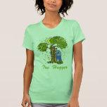 Diseño lindo de Hugger del árbol Camiseta