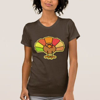 Diseño lindo de la acción de gracias del dibujo camisetas