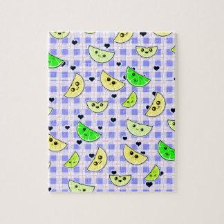 diseño lindo de la cal del limón para los chicas rompecabezas con fotos