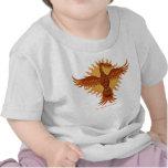 Diseño lindo de la camiseta del bebé del pájaro