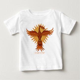 Diseño lindo de la camiseta del bebé del pájaro playeras