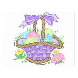 Diseño lindo de la cesta de Pascua Tarjetas Postales