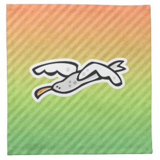Diseño lindo de la gaviota servilletas imprimidas
