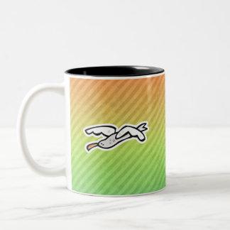 Diseño lindo de la gaviota tazas de café