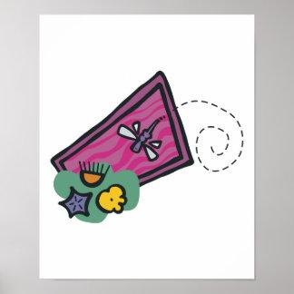 diseño lindo de la libélula del dibujo animado posters