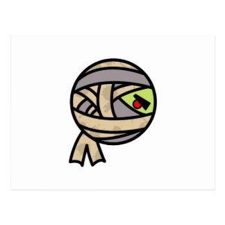 diseño lindo de la momia postal