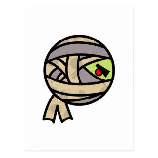 diseño lindo de la momia postales