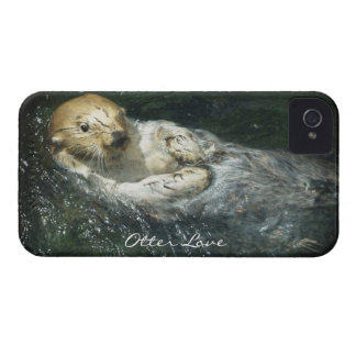 Diseño lindo de la nutria para los Animal-amantes iPhone 4 Cárcasa
