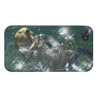 Diseño lindo de la nutria para los Animal-amantes iPhone 4 Protector