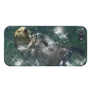 Diseño lindo de la nutria para los Animal-amantes iPhone 5 Protectores