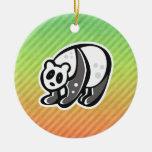 Diseño lindo de la panda ornamento de navidad