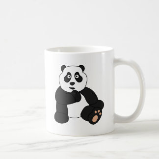 Diseño lindo de la panda taza de café