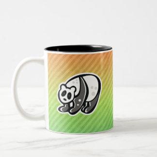 Diseño lindo de la panda tazas de café