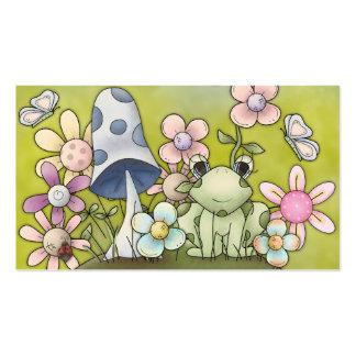 Diseño lindo de la primavera con los animales y tarjetas de visita